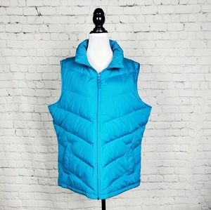 Land's End - Teal Quilted Puffer Vest